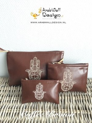 Khmisa / Khamsa Clutch (Coffee Brown)
