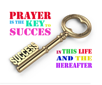Wenskaart Prayer is the Key